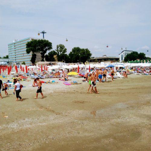 Plaz u hotelu Victoria v letovisku Mamaia | Zdroj: CK KM
