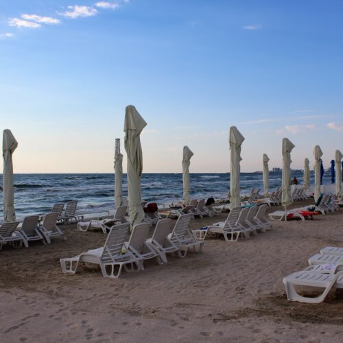 Pláž letoviska Mamaia - hotel Zenith v roce 2020 | Zdroj: CK KM